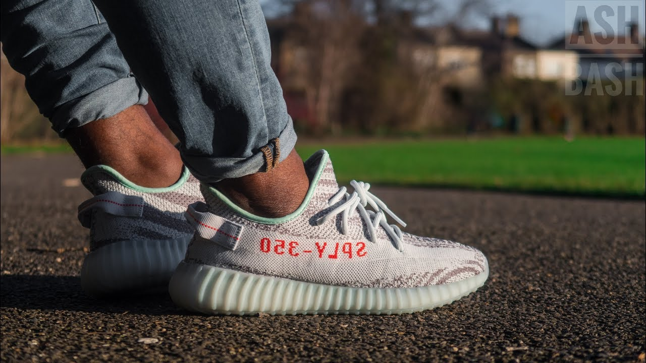 75ba758e Review + On Feet | Adidas Yeezy Boost 350 V2 | Blue Tint | Ash Bash ...