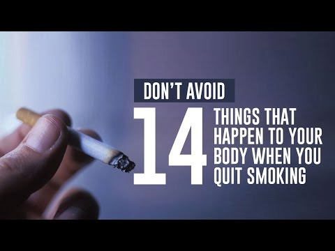 14 Things That Happen to Your Body When You Quit Smoking  (Don't Avoid)