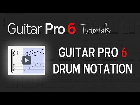 Chap. 6 - 5 Drum notation in Guitar Pro 6
