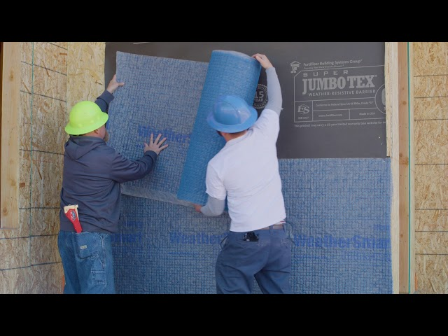 Install Detail - WeatherSmart® Rainscreen over Super Jumbo Tex® 60 Minute