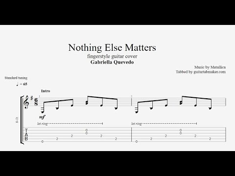 Nothing Else Matters TAB - Fingerstyle Guitar Tab - PDF - Guitar Pro
