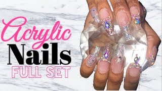 Acrylic Nails Full Set Tutorial | Clear Acrylic Nails | Nail Tutorial