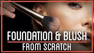 foundation and blush from scratch   htme cosmetics