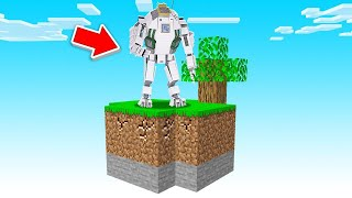 I Made The STRONGEST ROBOT In SKY BLOCK! (Minecraft)
