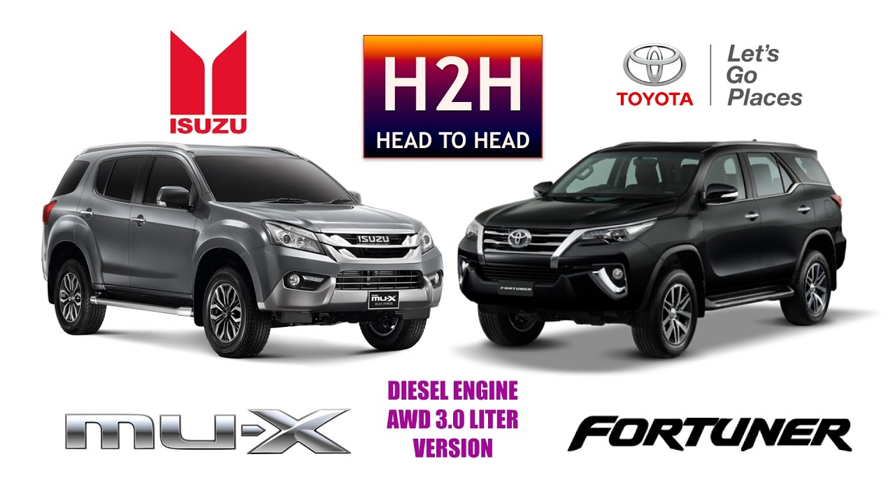 All New Fortuner 2018 >> H2H #93 Isuzu MUX vs Toyota All New Fortuner - YouTube