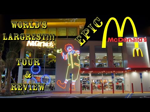 "World's Largest McDonald's ""Epic McDonalds"" Opening Day Full Tour & Review (Best Quality)"