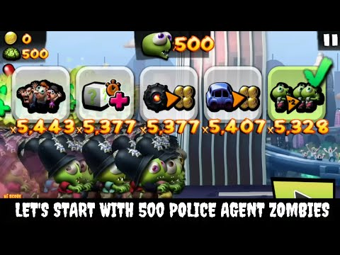 Zombie Tsunami: Let's Start With 500 Police Hat Agent Zombies