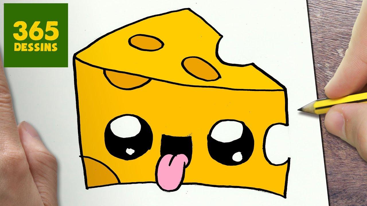 Comment dessiner fromage kawaii tape par tape dessins - Comment dessiner kawaii ...