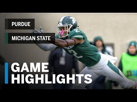 Highlights: Purdue Boilermakers vs. Michigan State Spartans | Big Ten Football