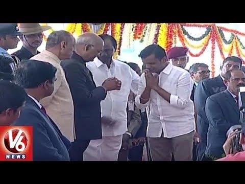 President Ramnath Kovind Arrives Hyderabad For World ...