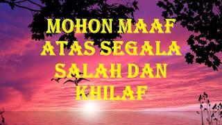 Video Ucapan Lebaran / Hari Raya Idul Fitri / Maaf Lahir dan Batin