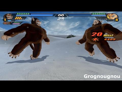 Fusion Gohan And Goku In Great Apes Into Gokhan Oozaru (dbz Tenkaichi 3 Mod)