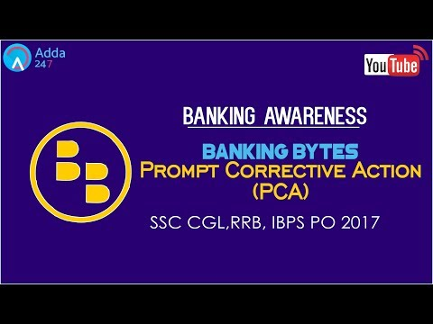 Banking Awareness - Prompt Corrective Action (PCA) | IBPS RRB & SSC CGL | Online Coaching for SBI