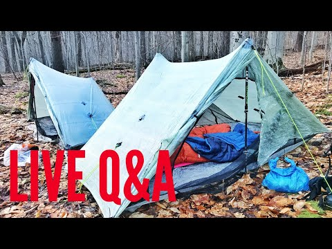 🔴 LIVE Q&A: Talking Zpacks arc haul comfort & backpacking with military surplus gear