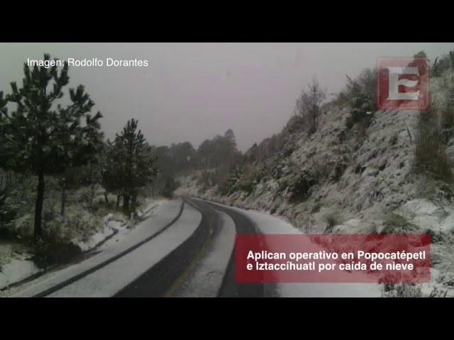Nevadas sorprenden a habitantes del Valle de México