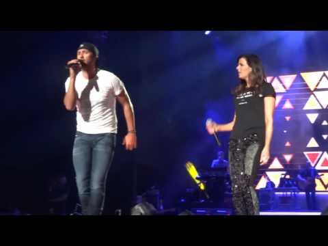 Luke Bryan and Karen Fairchild singing Home Alone Tonight in Toronto on June 25th, 2016