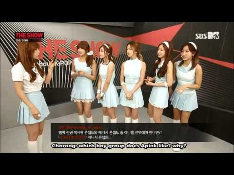 [Eng Sub] 140506 Apink - MTV The Show (60sec Interview)