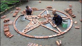 Plan To Construction Beautiful Traditional Handmade Bricks - Install Tiles On The Yard Amazing