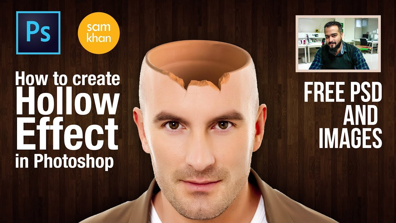 Photoshop tutorials | How to create Hollow Head Effect in Photoshop by samkhancreative