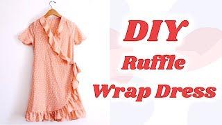 DIY Ruffle Wrap Dress / 手作り服 + ファッション / Costura / 랩원피스 만들기 / Sewing Tutorialㅣmadebyaya