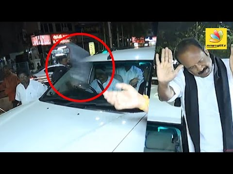 Stones and Slippers thrown at Vaiko during his way to meet Karunanidhi | Health Condition