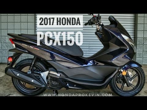 2017 Honda PCX150 Scooter Walk-Around Video   Pearl Blue PCX 150