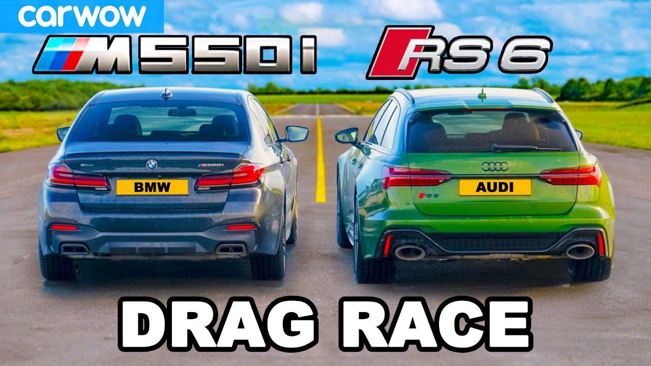 Audi RS6 v BMW M550i: DRAG RACE