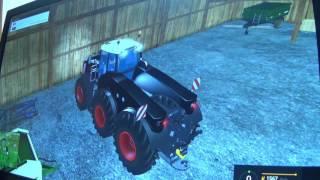 Farming simulator 15, tracteur Fendt Trisix Fario.