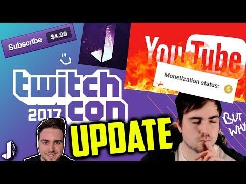 TwitchCon, Not Advertiser Friendly & Subscriber Button - Channel Update!