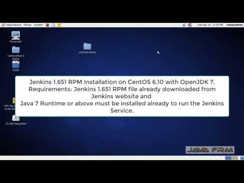 Jenkins 1 651 RPM Installation on CentOS 6 10 with OpenJDK 7 and Uninstall  Jenkins