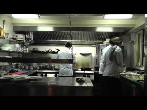 Service at the Michelin star Restaurant Lastage in Amsterdam
