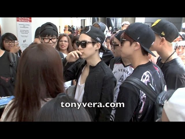 BTS Bangtan Boys lands in the usa for the first time and show love to fans at LAX