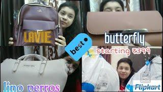 Flipkart Branded Bags haul starting from ₹399 only।।Lavie।।Lino perros।।Butterfly।।