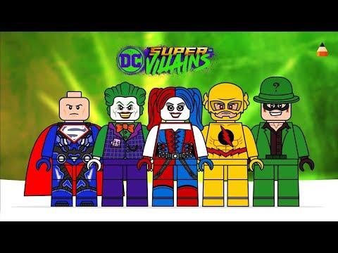 Lego DC Super Villains | Drawing Lego | Lego Games DC | Lego Minifigures Game |