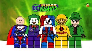 Lego DC Super Villains | Drawing Lego | Lego Games DC | Lego Minifigures Game