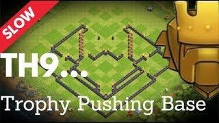 Build Along (Slow version) Th9 Trophy Pushing Base | Troll Base | October 2018