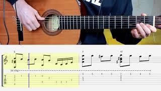 "Мурка на гитаре. Ноты. Табы. Аккорды. Folk song ""Murka"""