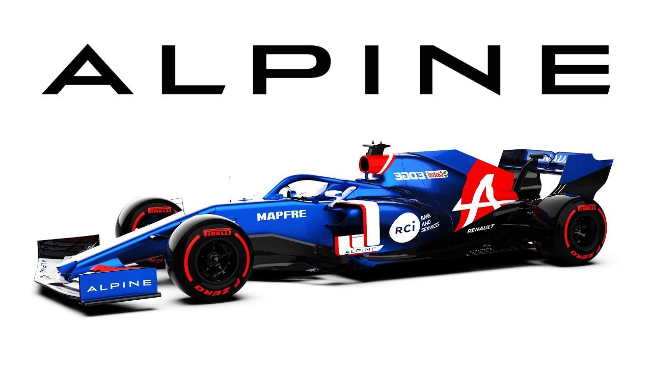 Alpine F1 Team Livery Design 2021 Youtube
