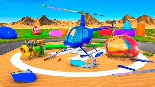 Helicopter Assembly Learn Colors for Children. Cartoon for Kids. Learning Cartoons