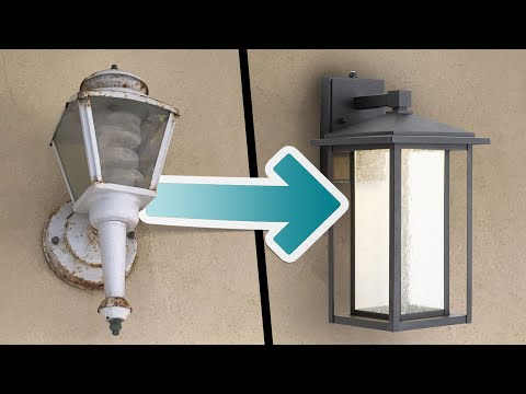 Easy Exterior Light Update - 20 Minute DIY Upgrade