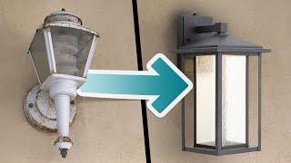 Easy Outdoor Light Fixture Update - 20 Minute DIY Upgrade