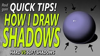 HOW TO DRAW SHADOWS!