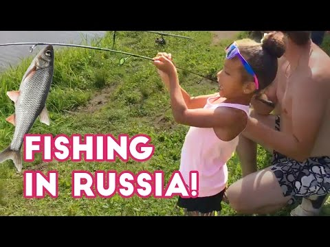 Alyssa Goes Fishing with Grandpa in Russia!!! (Travel Vlog) | Alyssa's Surprise Toy Review
