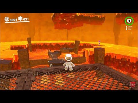 Super Mario Odyssey - Underground Moon Caverns - HD Gameplay