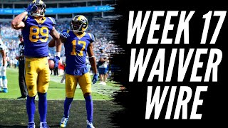 Fantasy Football 2019 Week 17 Waiver Wire