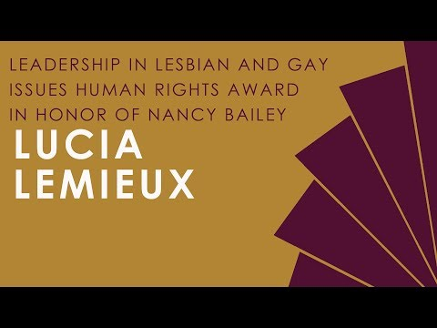 2018 Leadership in Lesbian & Gay Issues Human Rights Award in Honor of Nancy Bailey