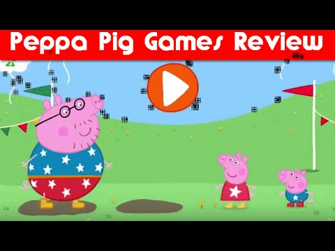 Peppa Pig Daddy Pig's Puddle Jump Sports Day and Party Time Games Review