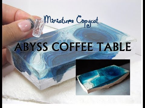 DIY Paper and Resin Abyss Coffee Table Dollhouse Miniature