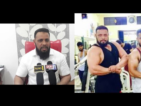 Esa Misri. Body Builder Launching a New Political Party In Hyderabad.