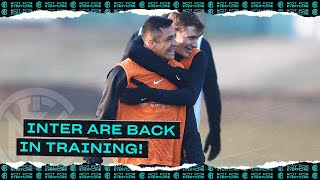 INTER ARE BACK IN TRAINING! | Ahead of Napoli vs Inter 💪🏻⚫🔵
